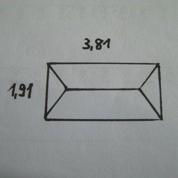 """Bevel Pencil 3/4 x 1,5"""""""