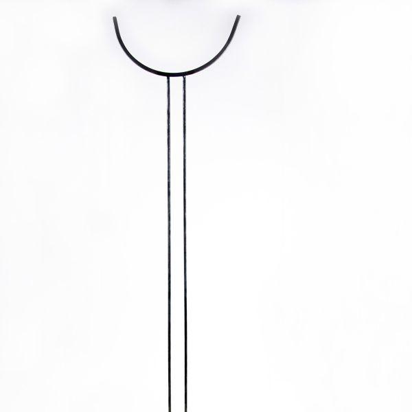 Glashalter lang, halbrund für 40 cm Glas