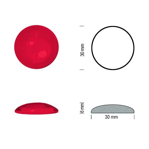 Flachbodenmuggel 30 mm rot