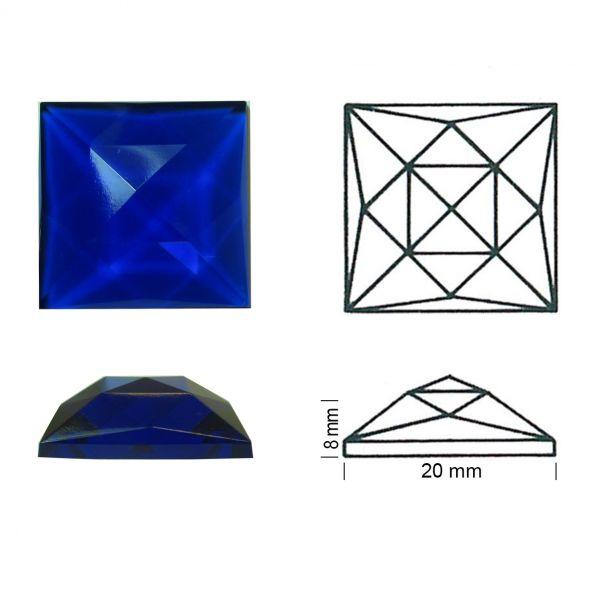Rautenquadrat 20/20 blau