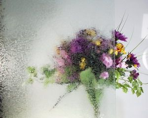 Eisblumenglas klar 4mm 20x30cm