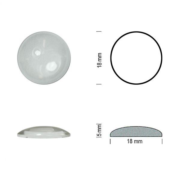 Flachbodenmuggel 18 mm klar