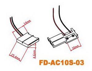LED-Steckverbinder für 10mm, mit Kabel