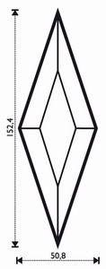 "Bevel Rhombus 2 x 6"""