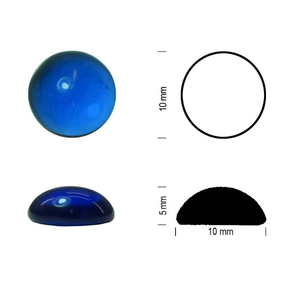 Muggel 10 mm kobaltblau