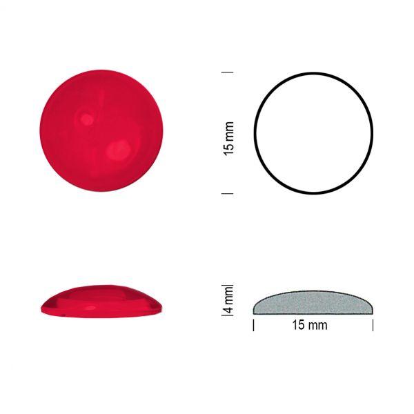 Flachbodenmuggel 15 mm rot