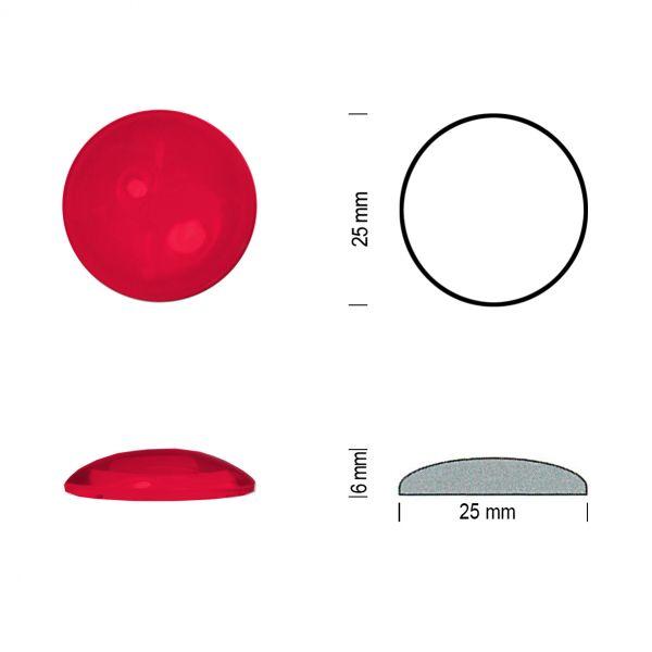 Flachbodenmuggel 25 mm rot