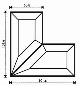 "Eisblume Eckenpaar 4x4x2"""