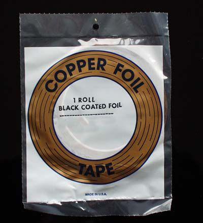 "EDCO Kupferfolie schwarz 1/4"" 6,4mm"
