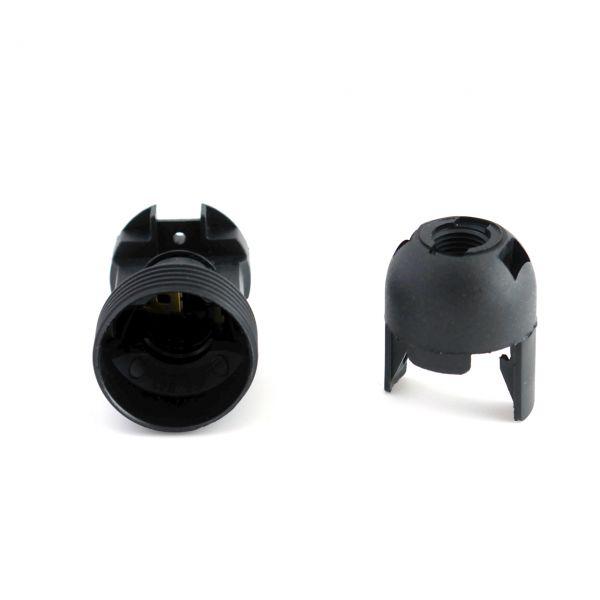 Fassung E 14 Kunststoff schwarz