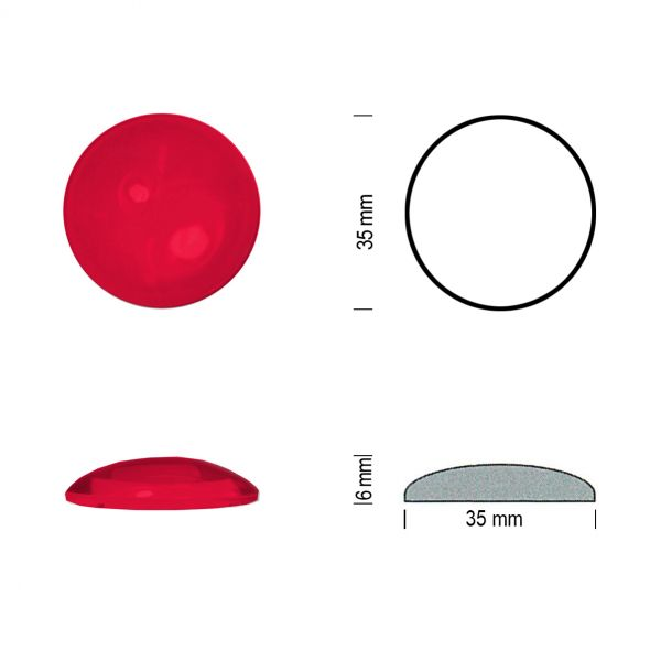 Flachbodenmuggel 35 mm rot