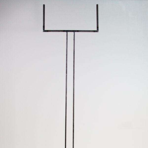 Glashalter lang, Edelstahl rechteckig für 30 cm