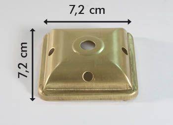 Kappe 4-eck 7,2cm