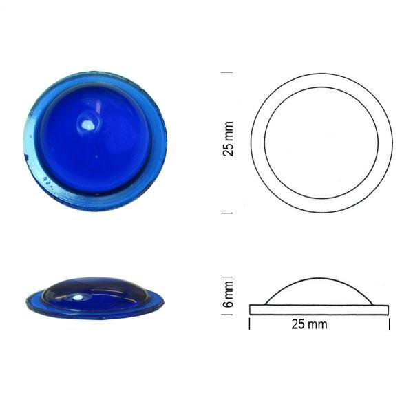Bullauge 25 mm kobaltblau