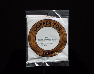 "Kupferfolie (E) silber 7/32"" 5.7mm"