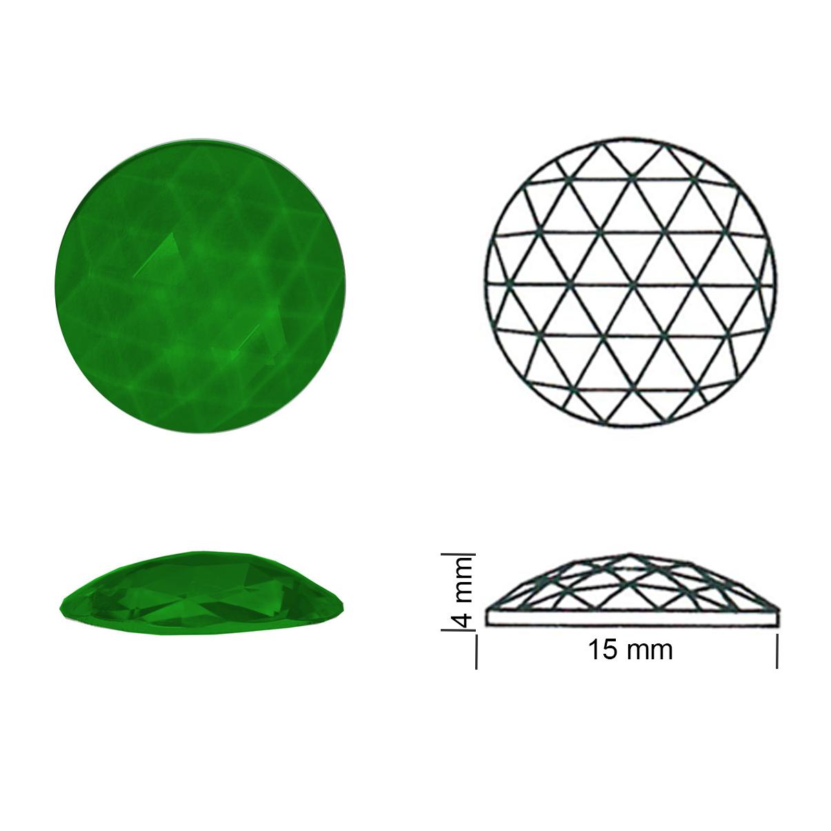 Rautenkreis 15 smaragdgrün