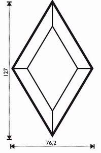 "Bevel Rhombus 3 x 5"""