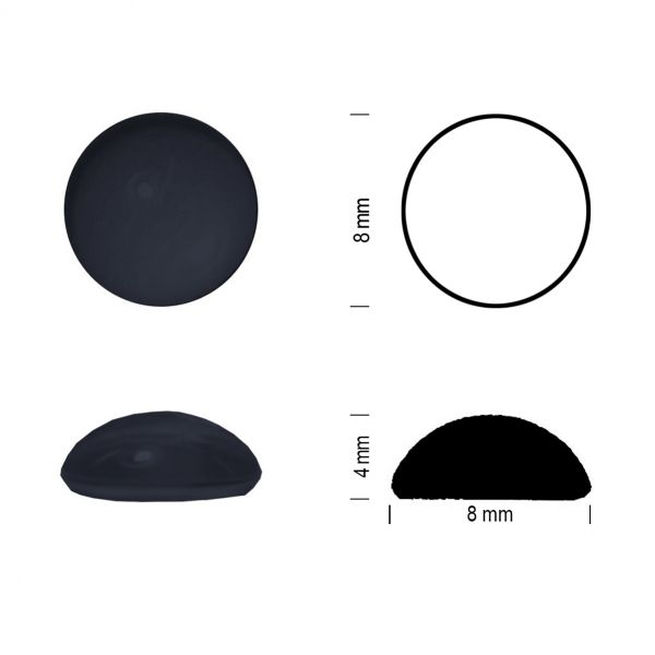 Muggel 8 mm schwarz